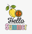 cute lemons summers cartoons vector image vector image
