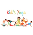 Cute yoga kids team group Children yoga