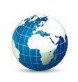earth globe with shadow vector image vector image