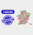 factory limburg province map and scratched vector image vector image