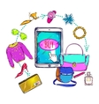 Fashion Online Shopping Composition vector image vector image