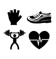 Fitness healthy lifestyle graphic design vector image vector image