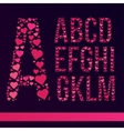 Font Created from the heart vector image vector image