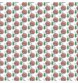 funny cartoon vegetable mushroom seamless pattern vector image