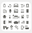 furniture icons set home interior objects vector image vector image