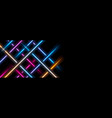 glowing neon colorful stripes abstract background vector image vector image