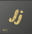 golden shiny letter j on a transparent background vector image