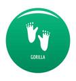 gorilla step icon green vector image vector image