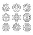 hand drawn decorative mandala vector image vector image