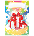 holiday card with gifts vector image
