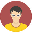 icon of user avatar for web site or mobile vector image vector image