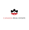 icon Real Estate Canada vector image vector image