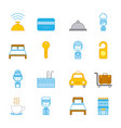icon set travel accessories rest vector image vector image