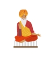 Indian Yogi Sitting On Nails vector image vector image