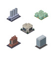 isometric construction set of company industry vector image vector image