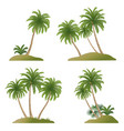 landscapes with palm trees vector image