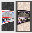 layouts for sydney vector image vector image