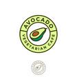 logo avocado vegetarian restaurant vector image