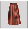 long pleated skirt fashion basic wardrobe vector image vector image