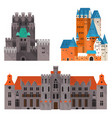 medieval castle or citadel fort medieval palace vector image vector image