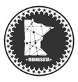 minnesota state map vector image vector image