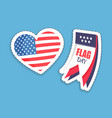 national american flag colors on stickers set vector image