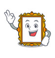 okay picture frame character cartoon vector image vector image