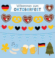 oktoberfest welcome banners and decoration vector image