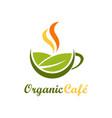 organic cafe symbol logo vector image vector image