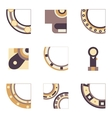 Parts of bearing colored icons vector image vector image