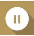 pause web icon flat design vector image vector image