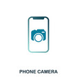 phone camera icon flat style icon design ui vector image vector image