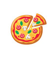 pizza and slice vector image