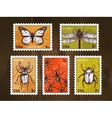 Postage Stamps With Insects Sketch vector image vector image