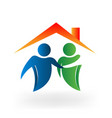 real estate business collaboration icon vector image vector image