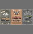 repair service vintage cars restoration vector image vector image