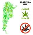 royalty free marijuana leaves composition vector image