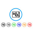 sales chart on pda rounded icon vector image vector image