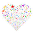 science symbols fireworks heart vector image vector image