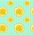 seamless floral pattern with yellow impatiens vector image vector image