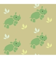 Seamless pattern with funny rhinos vector image vector image