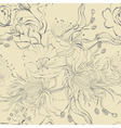 seamless wallpaper with original flowers vector image vector image