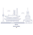 seoul city skyline vector image vector image