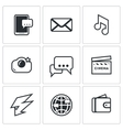 Set of Smartphone Icons Phone Message vector image vector image