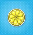 sticker slice lemon vector image