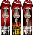 stickers for a karaoke party vector image