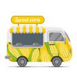 sweet corn street food caravan trailer vector image vector image