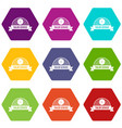 tailor service icons set 9 vector image vector image