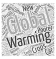 The Economics of Global Warming Word Cloud Concept vector image vector image
