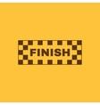 The finish icon Finish symbol Flat vector image vector image
